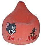 Детское Кресло-пуф мешок груша мягкая Том и Джерри, фото 5