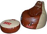 Детское Кресло-пуф мешок груша мягкая Том и Джерри, фото 4