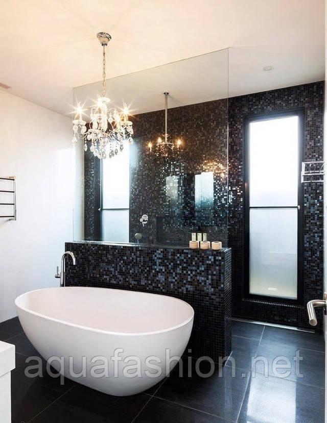Черная мозаика для ванной комнаты