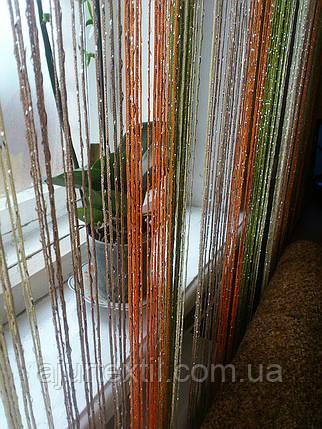 Шторы нити с люрексом радуга 23, фото 2