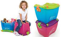 Ящик для детских игрушек Trunki - голубой и розовый, детская каталка, переносной детский багаж