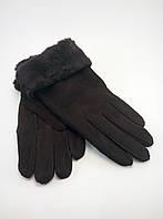 Перчатки женские дубляж натуральный мех разные цвета