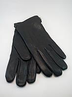 Перчатки мужские кожаные на утеплителе из кролика