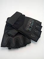 Перчатки тактические беспалые Oakley чёрные