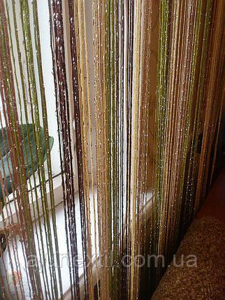 Шторы нити с люрексом радуга 30, фото 2