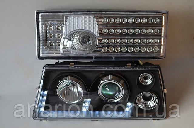 Передние черные+задние хромированные фары на ВАЗ 21099 №19