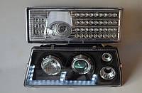 Передние черные+задние хромированные фары на ВАЗ 21099 №19, фото 1