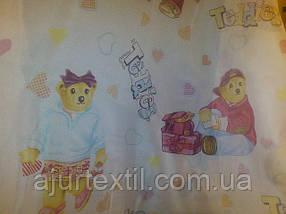 """Тюль детская печать """"Мишка Тедди """" , фото 3"""
