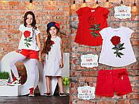 Детская одежда ТМ МОНЕ, красные шорты для девочки