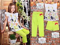 Детская одежда ТМ МОНЕ,  шорты для девочки (лайм)