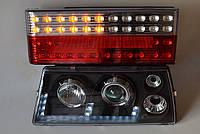Диодные передние черные+задние фары №7 на ВАЗ 2109 №268