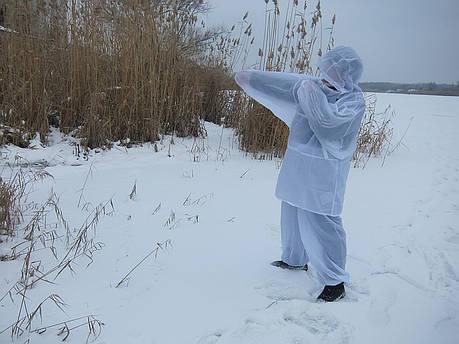 Белый масккостюм для зимней охоты, фото 2