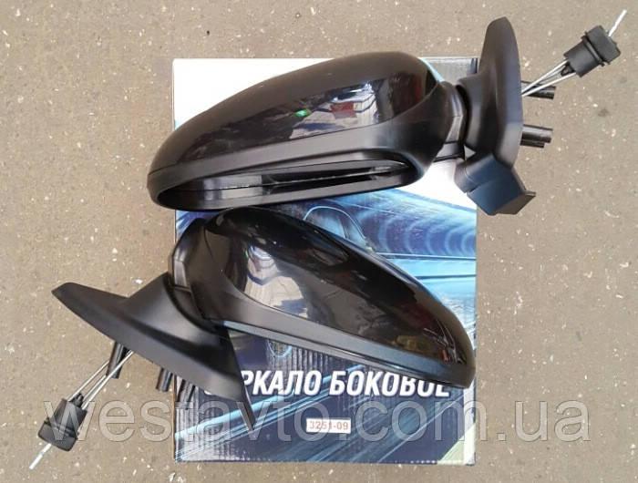 Зеркало боковое, ВАЗ 2108-09, черное 3251-09, 2шт