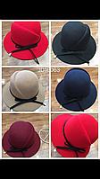 Женская шляпа c замшевым ободком