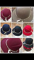 Шляпка женская Клош с жемчугом