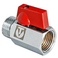 "VT.331.N.04 Кран шаровой MINI с внутренней/наружной резьбой 1/2"", фото 1"