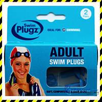 Беруши для плавания со шнурком Swim plugz (2 пары), Англия.