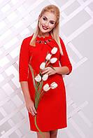 Платье Бусинка PL-1357 - красный: 42,44,46,48,50,52