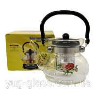 """Заварочный стеклянный чайник 600 мл """"6006"""" 1 шт."""