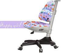 Кресло Mealux Conan GL обивка сиреневая с девочками