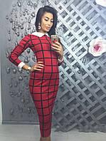 Женское модное платье-миди (2 цвета)