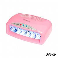 УФ Лампа для наращивания ногтей Lady Victory UV-42W UVL-09 на две руки розовая (в)