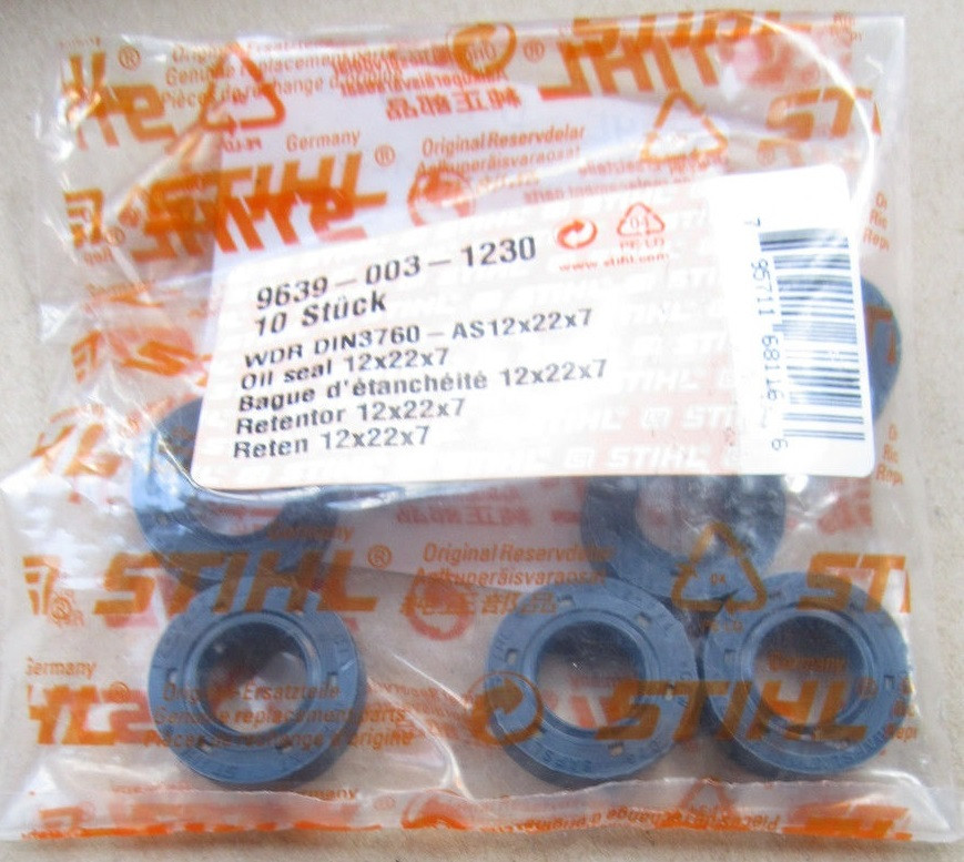 Сальник Stihl FS 38, FS 55, FS 55C, FS 56, 56C, 56R, 56RC, оригинал (96390031230) для мотокос Штиль