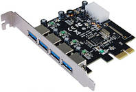 Контроллер PCIe to USB 3.0 ST-Lab (U-1270) 4xUSB 3.0, PCI-E x1