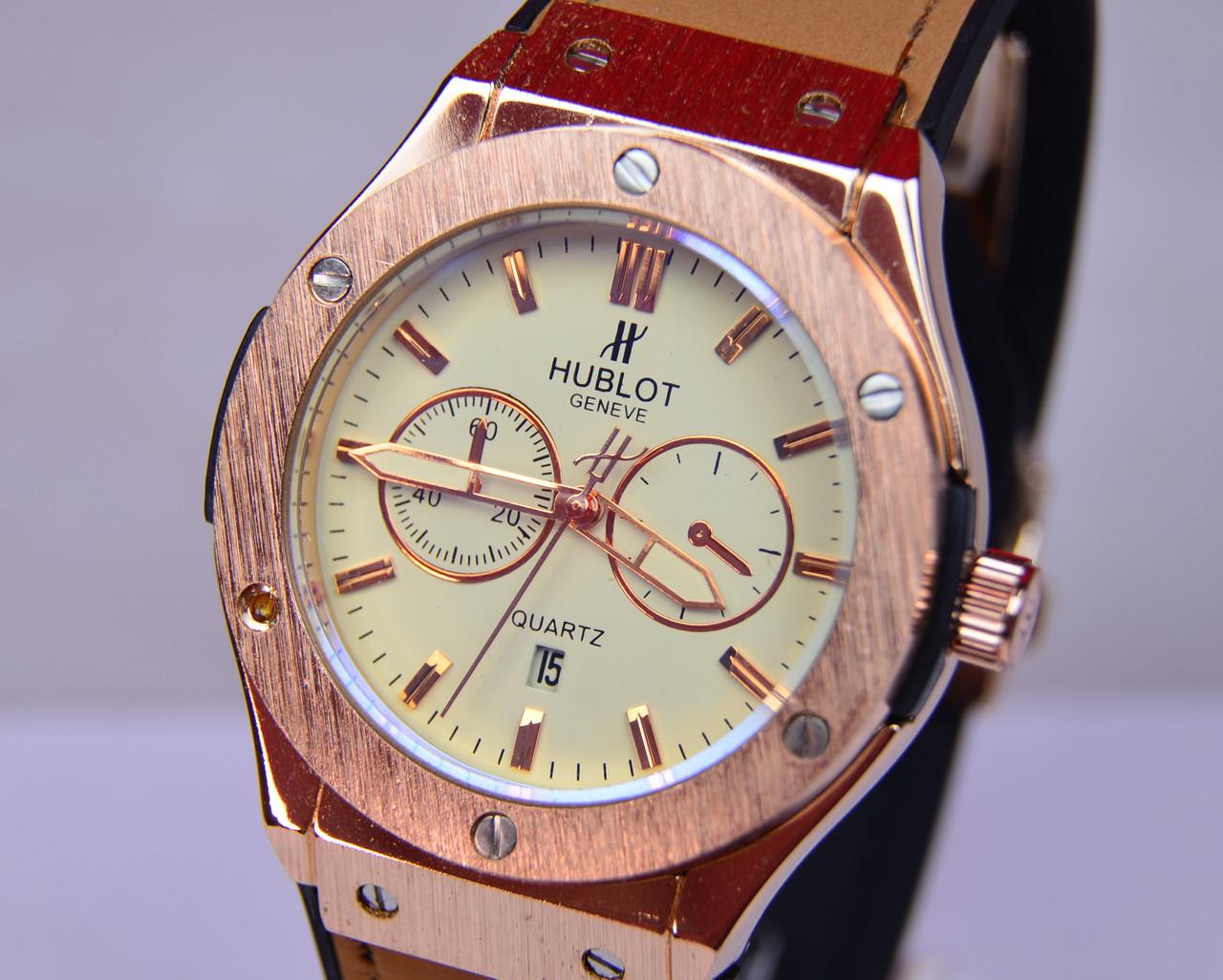 Мужские наручные часы HUBLO-T Big Bang Gold