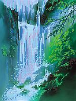 Схема для вышивки бисером POINT ART Водопад, размер 21х28 см