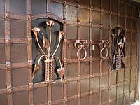 Гаражные ворота кованные 2990 грн./м.кв.