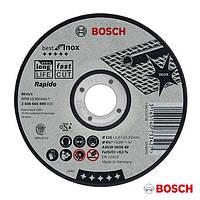 "Круг отрезной ""Bosch Standard"" по нержавейке 115х1.0х22.23мм Sfl, прямой"