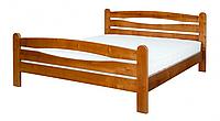 """Кровать """"Каприз-1"""" из массива ольхи (Темп)"""