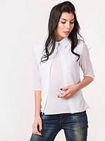 Блузка женская с рукавом 3/4 белая, демисезонная.