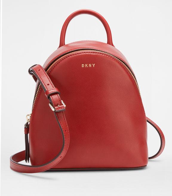 Женский кожаный мини-рюкзак DKNY
