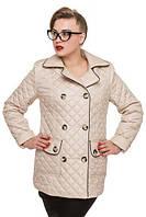 Приталенная женская куртка на пуговицах