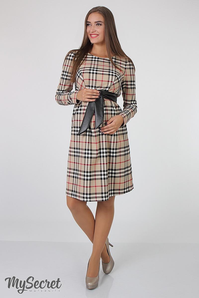 6722937d3c86732 Классическое платье для беременных и кормящих Barbara - Интернет-магазин