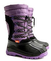 Зимние сапоги, дутики, сноубутсы для девочки р.25-36 ТМ Demar SAMANTA фиолетовый (Польша)