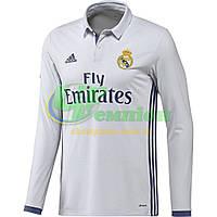 Футбольная форма Реал безномерная, домашняя сезон 2016/2017 длинный рукав