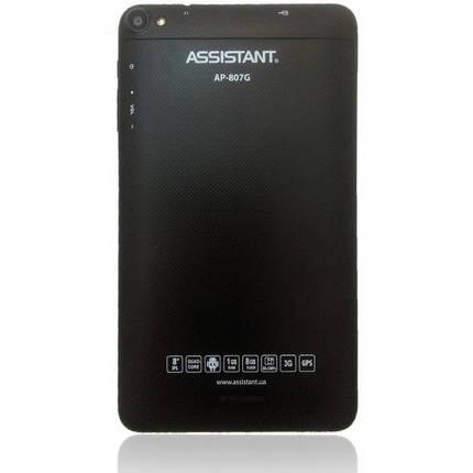 "Планшет ASSISTANT АР-807 8"" 3G Black 2 sim, фото 2"
