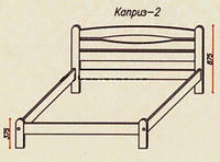 """Кровать """"Каприз-2"""" из массива ольхи (Темп)"""
