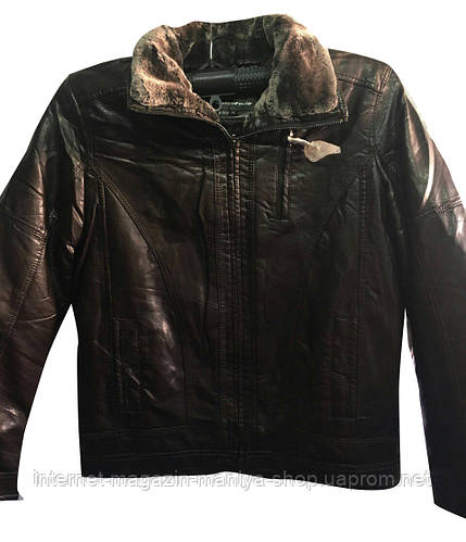 Мужская куртка кожзам на меху