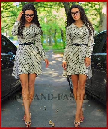 "Платье Туника ""Kapryz"" цвет бежевый, фото 2"
