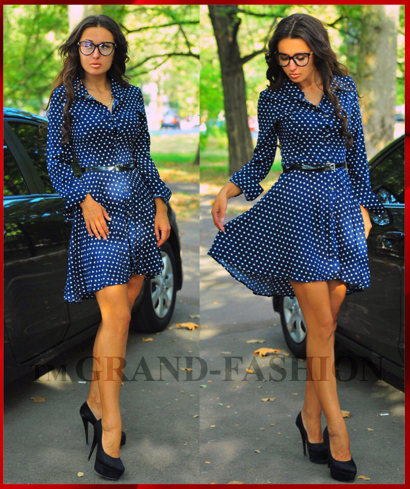 """Платье Туника """"Kapryz"""" цвет тёмно-синий"""