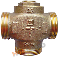 """Клапан Herz Teplomix DN32, 1""""1/2, 55°С термосмесительный 1776614 с отключаемым байпасом"""