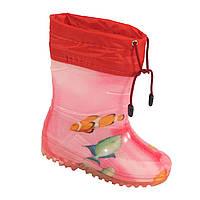 "Резиновые сапоги детские Verona ""Рыбка на розовом"", фото 1"