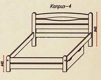 """Кровать""""Каприз-4"""" из массива ольхи (Темп)"""