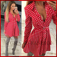 Платье Туника Рубашка ~Каприз~ цвет красный, фото 1