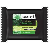 1201005 Farmasi (Фармаси) Салфетки для снятия макияжа зеленые 15 шт.
