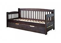 """Кровать """"Ретро-7"""" из массива ольхи (Темп)"""